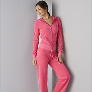 Juicy Couture Pink terry cloth track jacket